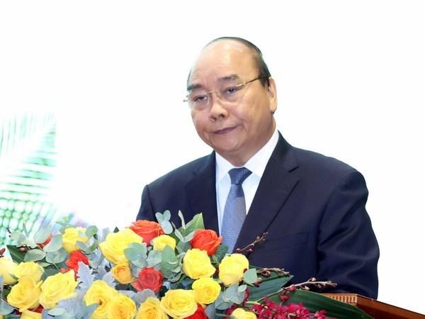 Thủ tướng Nguyễn Xuân Phúc phát biểu tại buổi lễ. Ảnh: TTXVN.