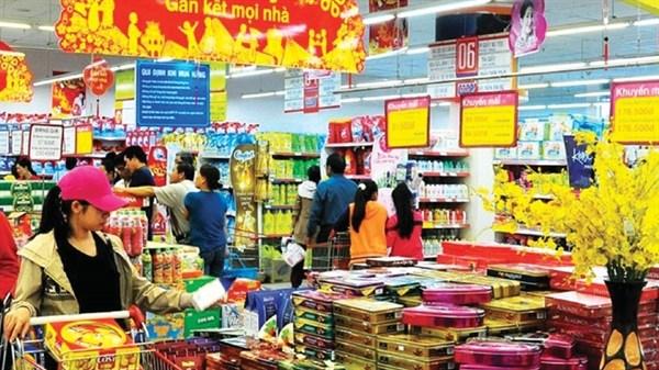 Hàng hóa ở các siêu thị khá nhiều.
