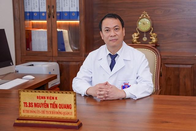 TS.BS Nguyễn Tiến Quang, Chủ tịch Hội đồng quản lý Bệnh viện K. Ảnh: VGP.