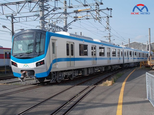 Đoàn tàu tuyến metro Bến Thành - Suối Tiên.