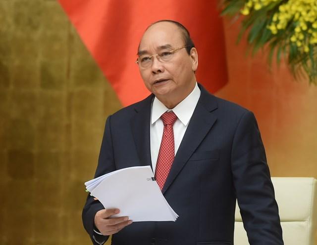 Thủ tướng Nguyễn Xuân Phúc phát biểu tại Hội nghị. Ảnh: VGP.