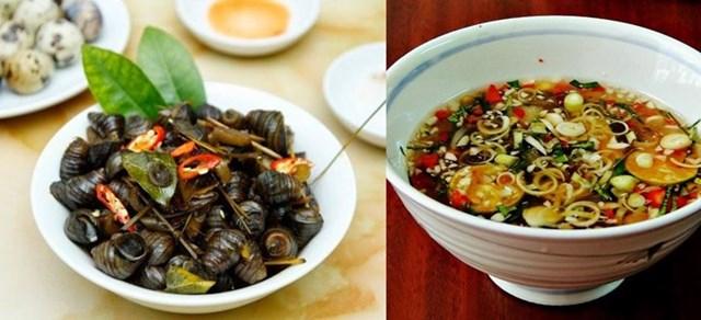 Ốc được chế biến thành nhiều món ăn ngon, bổ dưỡng.