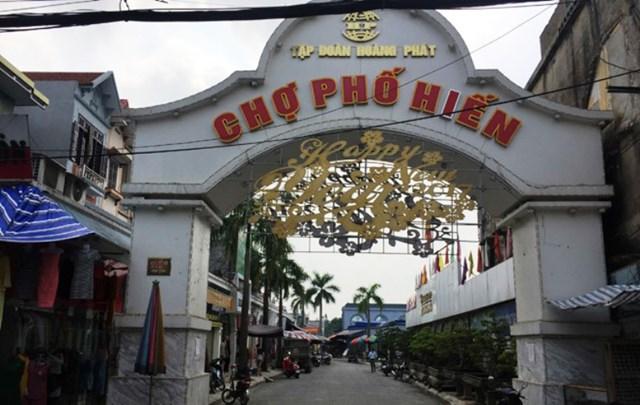 Dự án chợ Phố Hiến tại TP Hưng Yên.