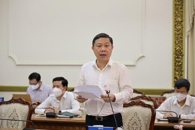 Phó Chủ tịch UBND TP HCM Dương Anh Đức báo cáo sơ kết 15 ngày thành phố thực hiện Chỉ thị 16.