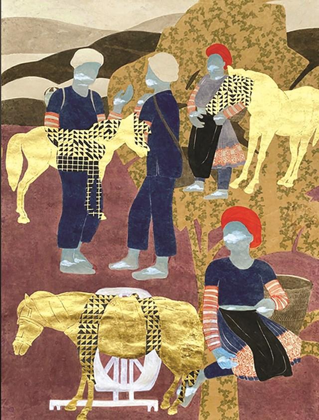 """Tác phẩm """"Trò chuyện của người buôn ngựa và người kéo sợi""""."""