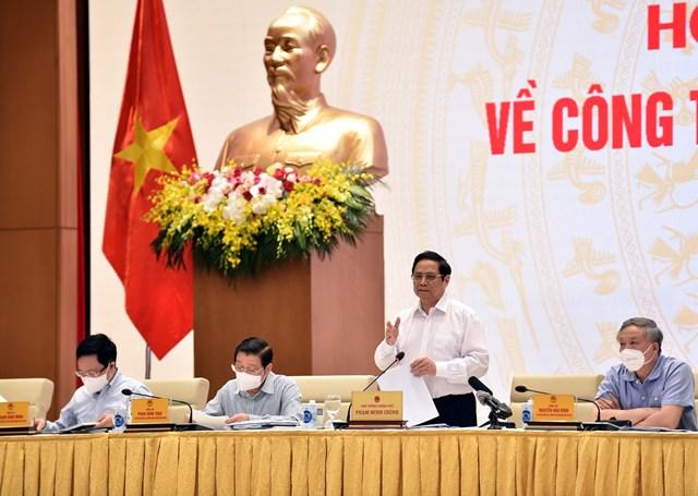 Thủ tướng Phạm Minh Chính phát biểu chỉ đạo Hội nghị. Ảnh: VGP.