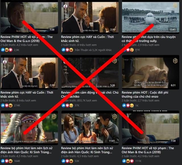 Việc review phim đang gây tổn thất lớn đến các đơn vị sản xuất.