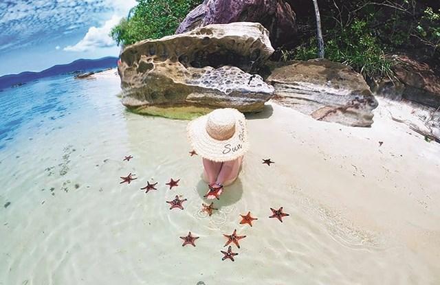 """Phú Quốc còn được ví là """"vương quốc sao biển""""."""
