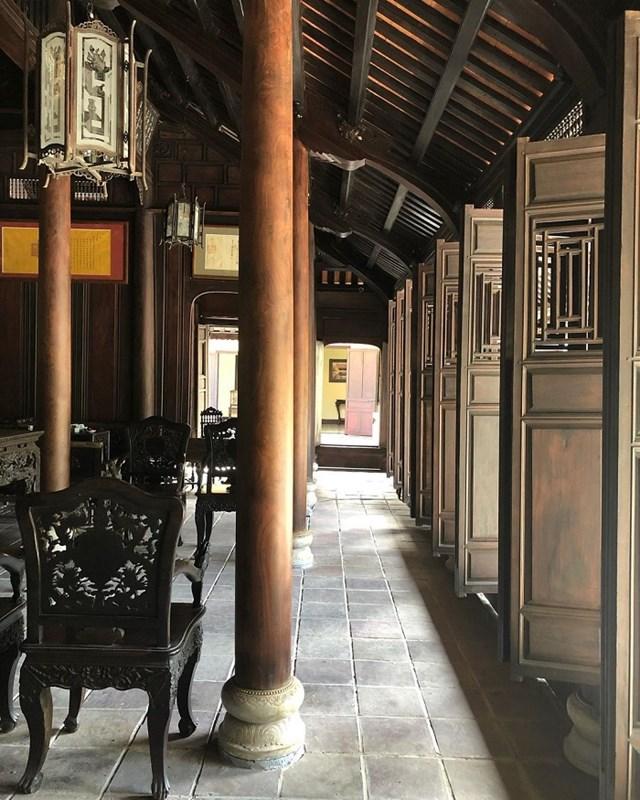 Gian trong nhà rường được tính bằng các hàng cột trong nhà, không có vách ngăn.