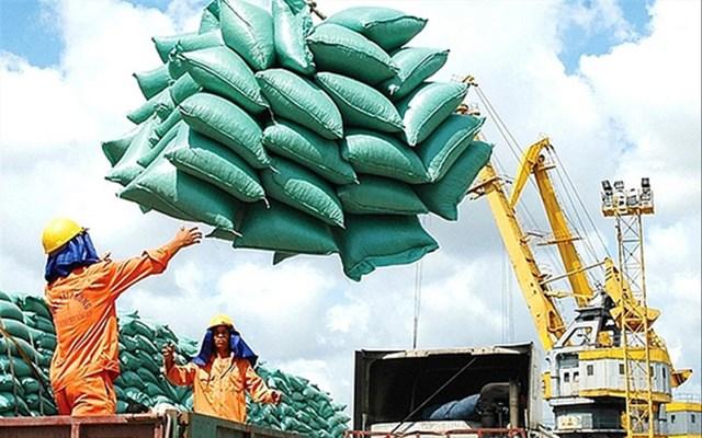 Gạo, một trong những mặt hàng xuất khẩu mạnh.