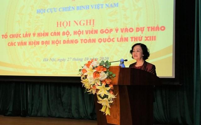Bà Trương Thị Mai phát biểu tại hội nghị. Nguồn: VTV.