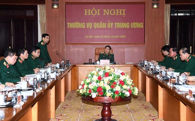 Thượng tướng Phan Văn Giang báo cáo nhanh về công tác ứng phó bão số 9.