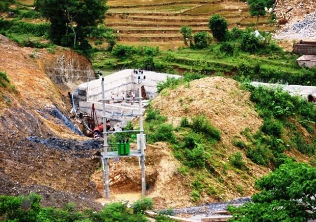 Một dự án thủy điện tại huyện Lạc Sơn, tỉnh Hòa Bình. Ảnh: Vietnam+.
