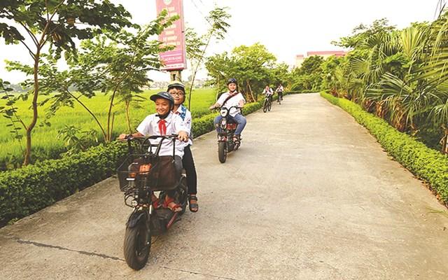 Đường nông thôn mới ở thôn Đồng Quan, xã Đồng Sơn (TP Bắc Giang, tỉnh Bắc Giang). Ảnh: Đại La.