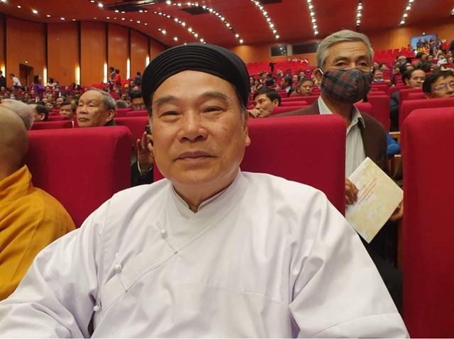 Giáo sư Thượng Mai Thanh Trưởng Ban cai quản hội thánh Cao Đài, Thủ đô Hà Nội: