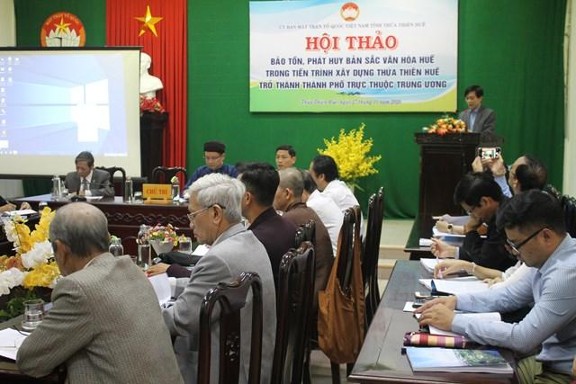 Thừa Thiên - Huế: Hội thảo về Bảo tồn, phát huy bản sắc văn hóa Huế - Ảnh 1