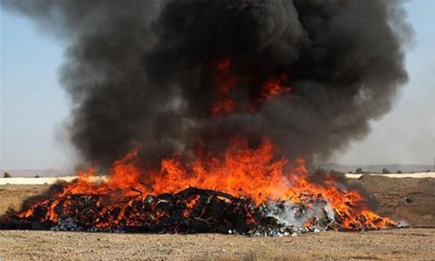 Afghanistan tiêu hủy hơn 24 tấn ma túy - Ảnh 1