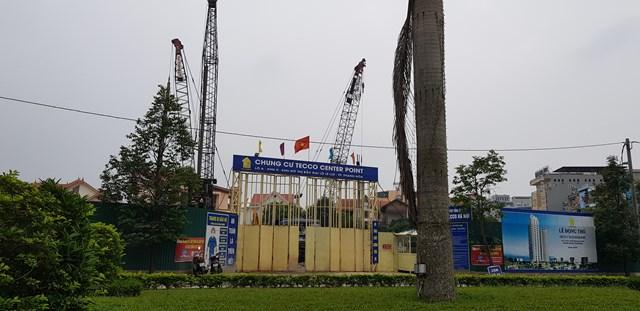 Tecco thi công dự án nhà chung cư khi chưa được cấp phép xây dựng.