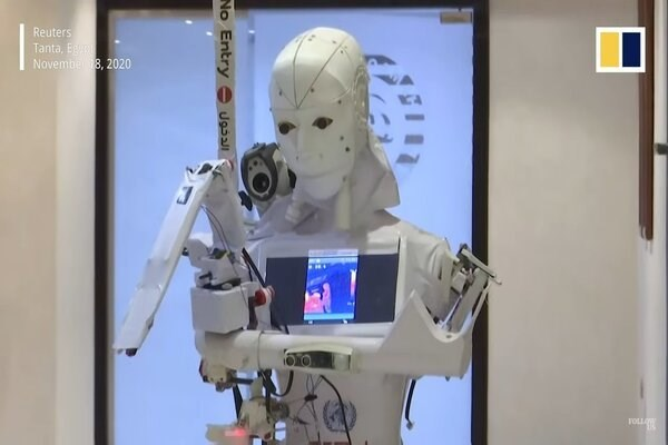 Cira-03, người máy đầu tiên chăm bệnh nhân nghi nhiễm Covid-19 - Ảnh 1