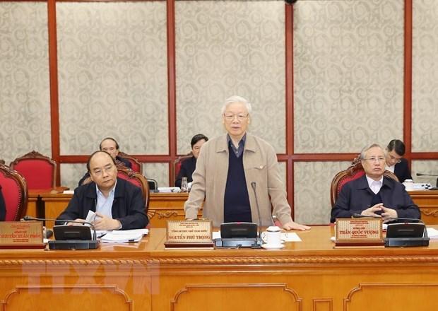 Tổng Bí thư, Chủ tịch nước Nguyễn Phú Trọng phát biểu chỉ đạo. Ảnh: TTXVN.