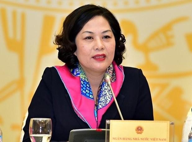 Thống đốc Ngân hàng Nhà nước Việt Nam kiêm Chủ tịch Hội đồng quản trị Ngân hàng Chính sách xã hội Nguyễn Thị Hồng.