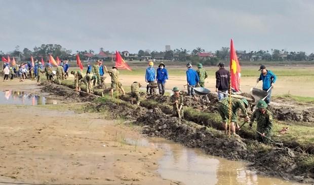 Quảng Trị tập trung khôi phục sản xuất sau mưa lũ. (Ảnh: Hồ Cầu/TTXVN).