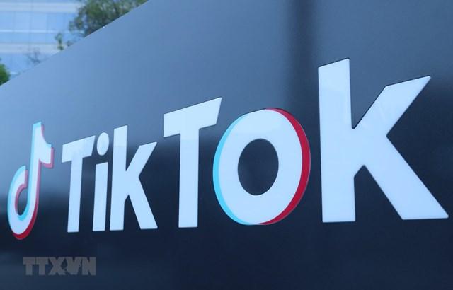 Biểu tượng TikTok. (Ảnh: THX/TTXVN).