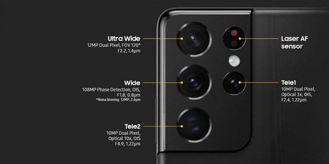 Camera củaGalaxy S21 Ultra.