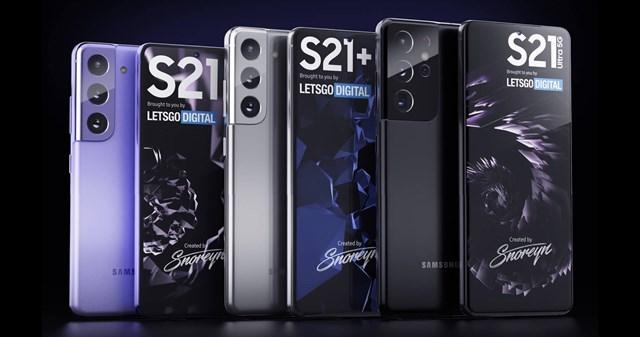 Thiết kế vô cùng bắt mắt của Galaxy S21 series.