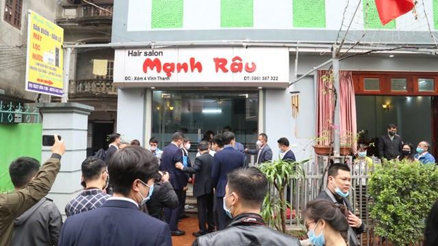 Nhà riêng anh Nguyễn Ngọc Mạnh tại thôn Vĩnh Thanh, huyện Đông Anh, Hà Nội