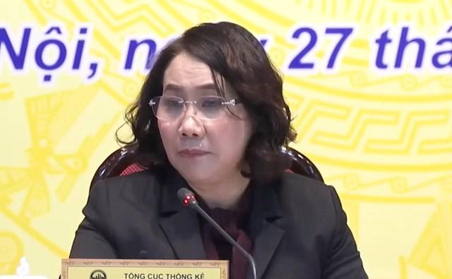 Bà Nguyễn Thị Hương,Tổng Cục trưởng Tổng cục Thống kê.