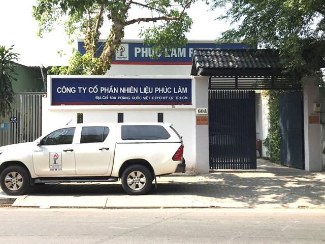 Trụ sở Công ty CP nhiên liệu Phúc Lâm