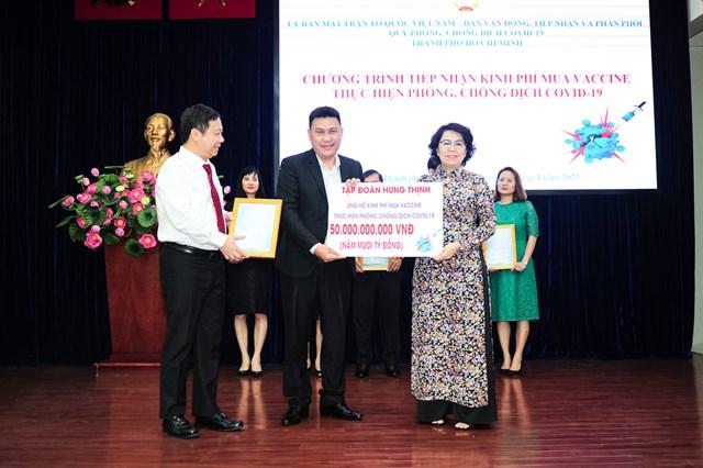 Tập đoàn Hưng Thịnh ủng hộ 50 tỷ mua vaccine phồng dịch Covid - 19.