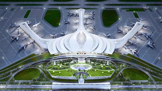 Mô hình dự án sân bay Long Thành.