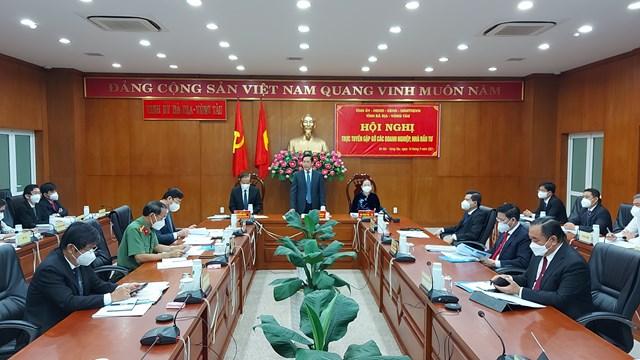 Bí thư Tỉnh ủy Bà Rịa-Vũng Tàu Phạm Viết Thanh phát biểu tại hội nghị.
