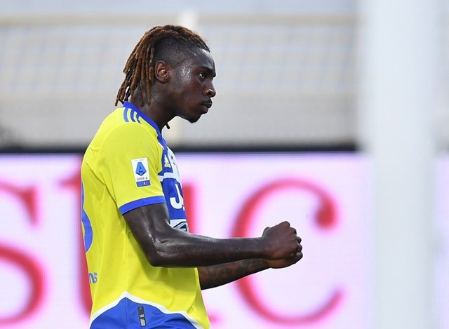 Moise Kean mở tỉ số cho Juventus.