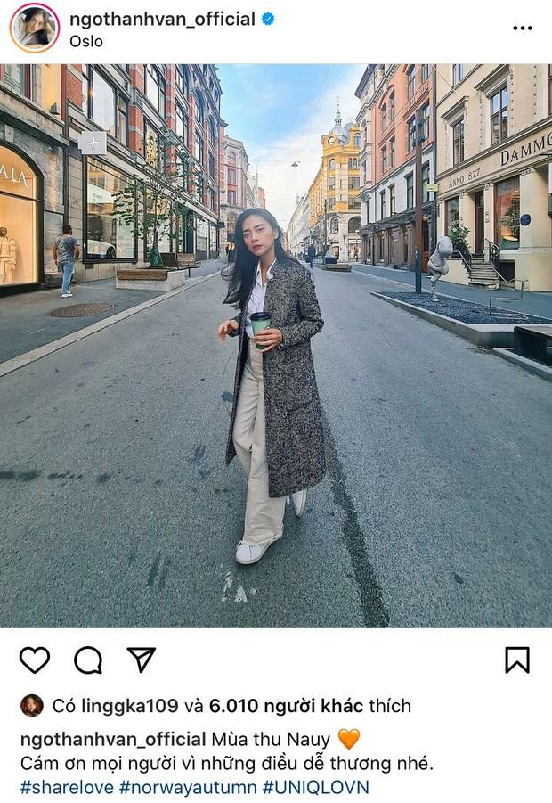 Ngô Thanh Vân chia sẻ bức ảnh chụp ở Na Uy kèm caption gửi lời cảm ơn khán giả.