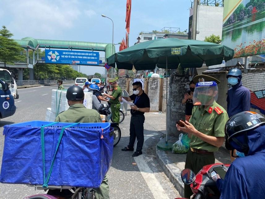 Cận cảnh vùng cách ly y tế phường Chương Dương, quận Hoàn Kiếm, Hà Nội - Ảnh 5