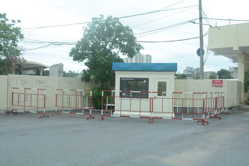 Khu vực test chuẩn bị dành cho những hành khách nghi nhiễm Covid-19 tại BX Giáp Bát.