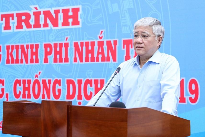 Chủ tịchĐỗ Văn Chiến phát biểu tại buổi lễ.