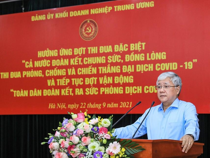 Bí thư Trung ương Đảng, Chủ tịch UBTƯ MTTQ Việt Nam Đỗ Văn Chiến phát biểu tại buổi lễ.