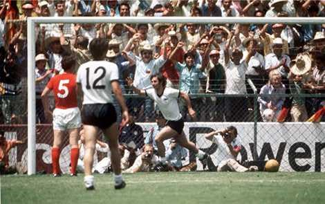 Đội tuyển Anh thua Tây Đức với tỷ số 2-3 tại World Cup 1970.