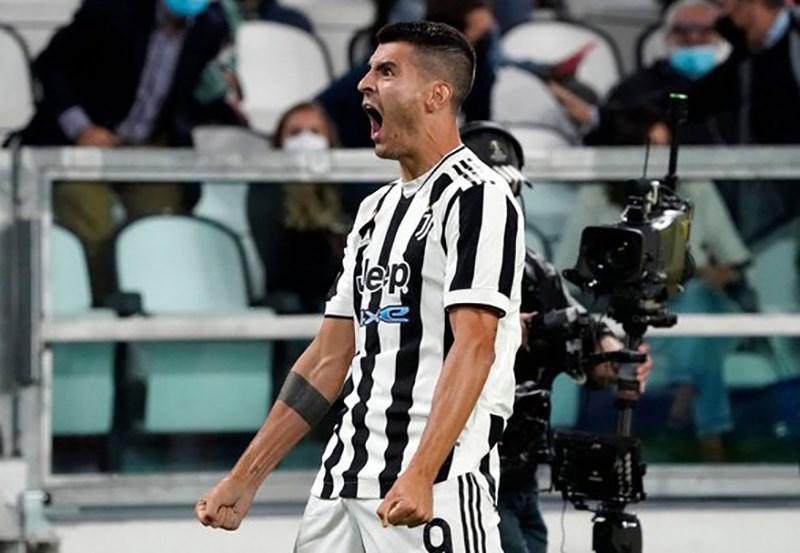 Morata đưa Juventus sớm vươn lên ở phút thứ 4.