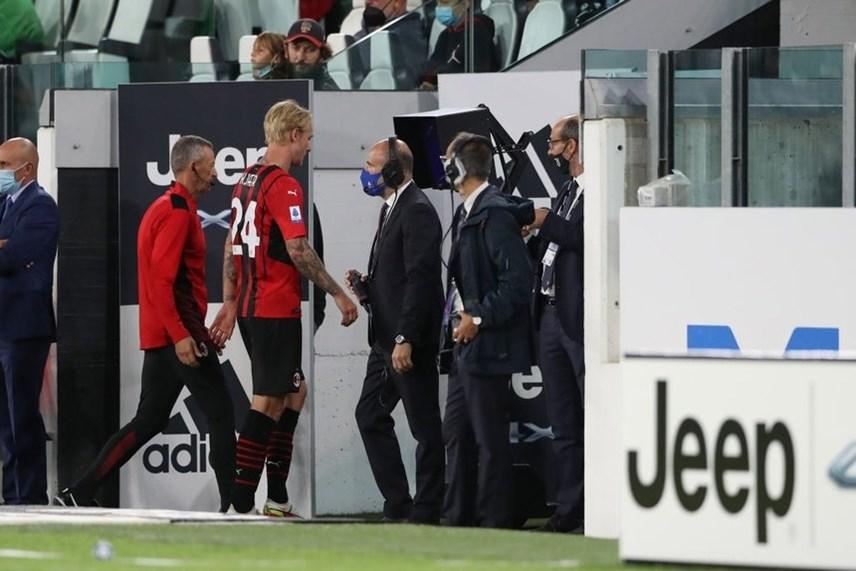 Thủ lĩnh hàng phòng ngự của AC Milan - Simon Kjaer dính chấn thương.