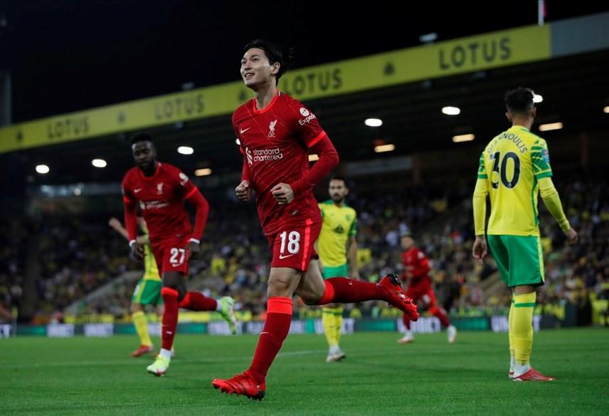 Liverpool thắng đậm nhờ vào sự xuất sắc của Minamino.