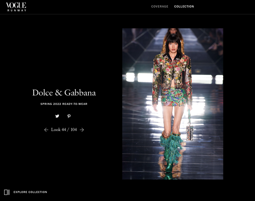 Phương Oanh xuất hiện trên trang web của tạp chí Vogue.
